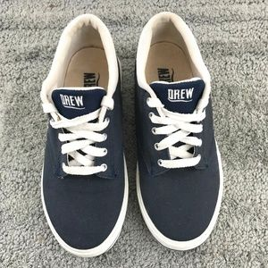 EUC DREW Navy and White Canvas Sneakers 7.5W
